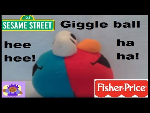 2005 Sesame Street Giggling Elmo And Cookie Monster Plush Ball By Fisher Price