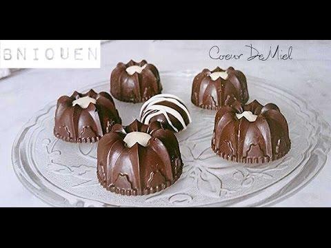 Bniouen  gâteau au chocolat sans cuisson facile et rapide \u2013 gâteau  algérien 2017 , Coeur De Miel