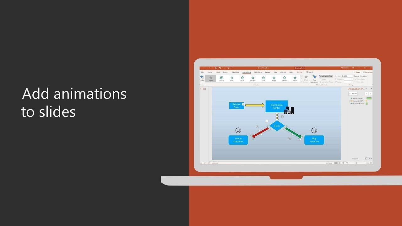 Add animations to slides in PowerPoint