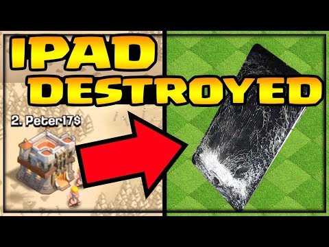 IPad DESTROYED In Clan War!  Clash Of Clans - SHOCKING Ending!