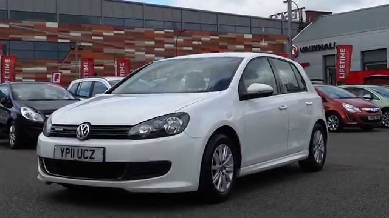 2011 11 plate volkswagon golf 1 6 tdi 105 s bluemotion 5dr in white youtube. Black Bedroom Furniture Sets. Home Design Ideas