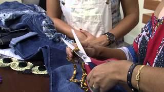 Customização de sapatos e roupas por Vivi Amstalden Parte 2