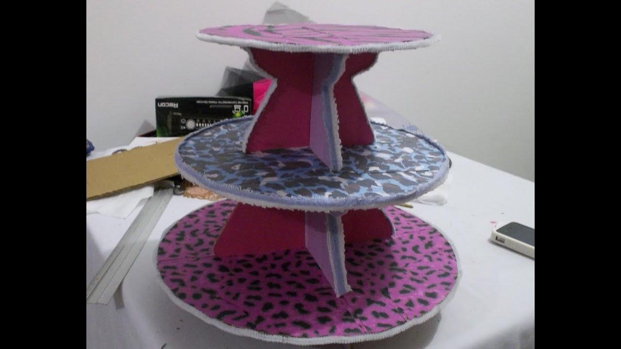 Tutorial: como hacer porta cupcakes de cartón reciclado facil DIY ...