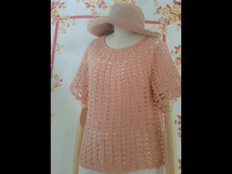 [Crochet Women's Sweaters: TYPE 9] HƯỚNG DẪN MÓC ÁO LEN NỮ: MẪU SỐ 9