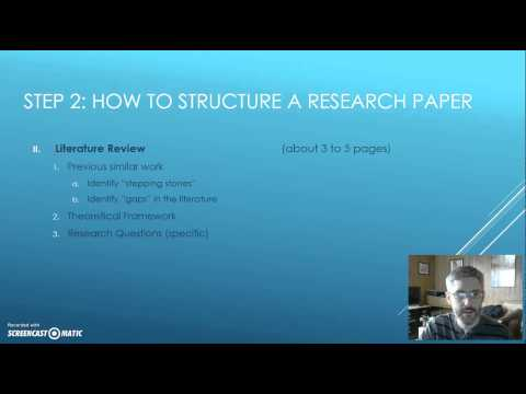 How to Write a Sociological Research Paper