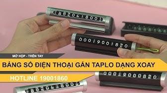 Bảng số điện thoại đặt trên taplo khi đỗ xe loại xoay số SAHA0011