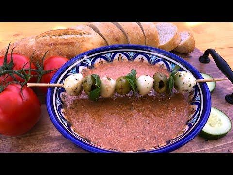 Studená španělská polévka – gazpacho  (gaspáčo) - ideální pro horké dny