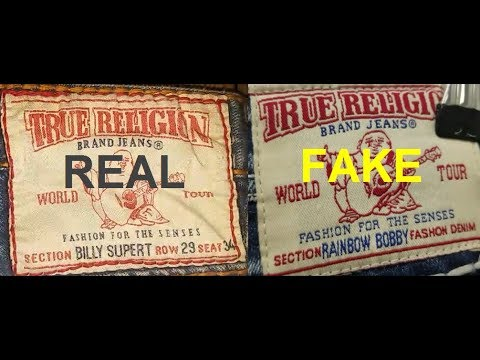 Real Vs. Fake True Religion Jeans. How To Spot Fake True Religion