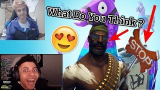 Myth & Ninja Reacts To *NEW* BANDOLIER SKIN & STOP AXE!!! - Fortnite Highlights | Funny Moments