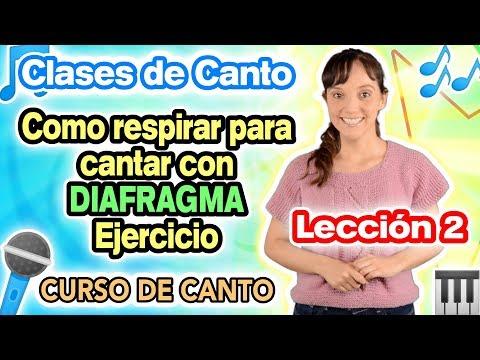 Clases de Canto Lección 2 - Ejercicio de DIAFRAGMA y RESPIRACIÓN - Curso de Canto CECI SUAREZ