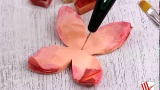 Нескучное рукоделие  Цветы из бумаги тишью 