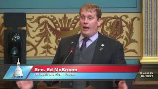 Sen. McBroom speaks on waiving liquor license fees for 2021