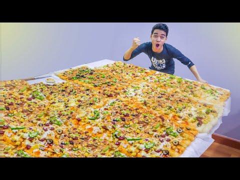 عملنا اكبر بيتزا في العالم وكسرنا الرقم القياسي 😲🔥 - EL Twins - التوينز