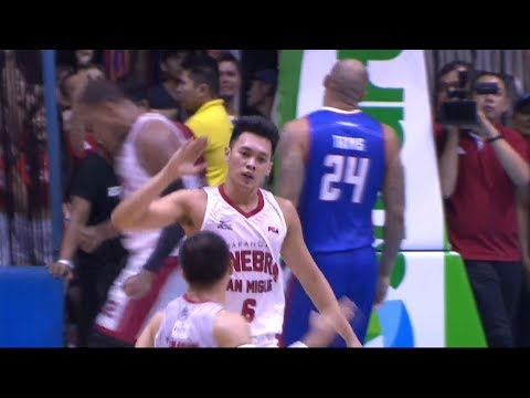 Scottie Thompson with a threepoint play to tie the game!  PBA Governors' Cup 2018 Semifinals