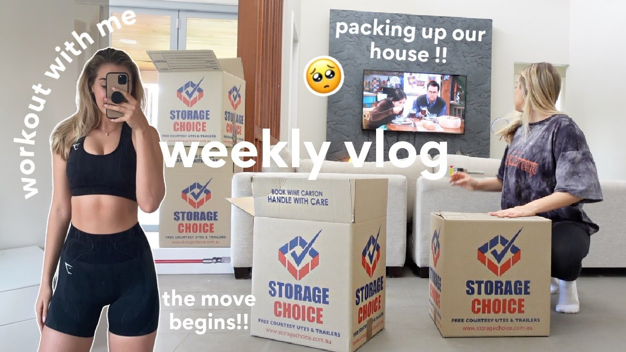 [WEEKLY VLOG] Packing Up Our House, Workouts & Night Routine