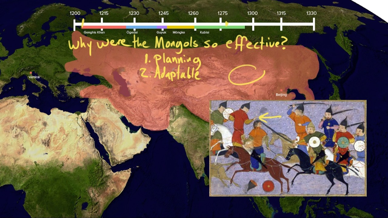 Why were the Mongols so effective? (video) | Khan Academy Il Kahn Khanate Location World Map on