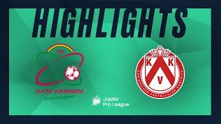 SV Zulte Waregem - KV Kortrijk hoogtepunten