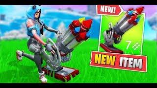 *NEW* Fortnite Bottle Rockets Gameplay! (Rocket Turret)