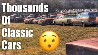 Classic cars and Antique cars salvage yard