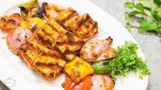 Tandoori Paneer Tikka in Tawa Recipe  Vegetarian Indian Starter Recipe