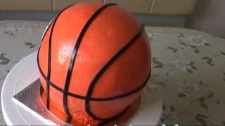 как приготовить торт с баскетбольным мячом