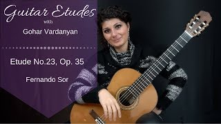 Etude No. 23, Op. 35 by Fernando Sor | Guitar Etudes with Gohar Vardanyan