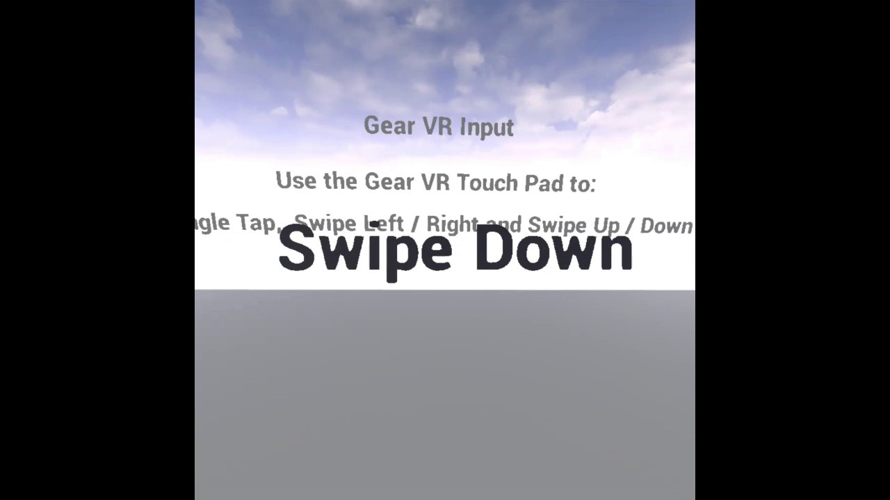Use the Gear VR HMD Touchpad