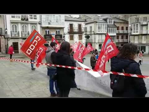 Los sindicatos se concentran en Viveiro para reclamar un sistema laboral más justo