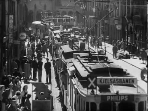 Buss og trikk 1950 oslo film / Bus and tram film