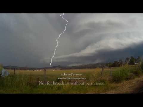 Dec 3rd Supercell lightning 2016 Beaudesert, QLD Australia