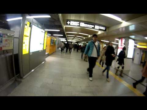 Trying to find an exit at Namba station