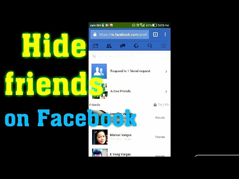 How to hide your Facebook friends list in smart phone 2017