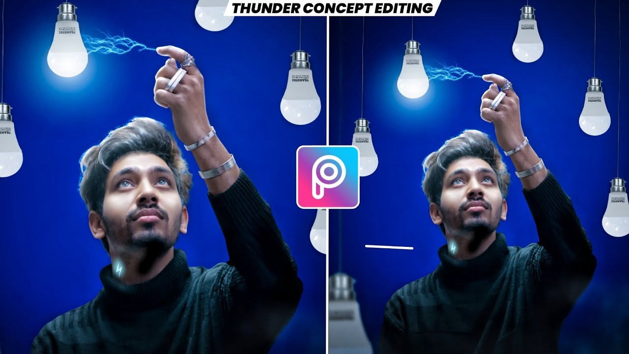 THUNDER⚡ concept editing | picsart editing new style | picsart photo editing | sandhu editz