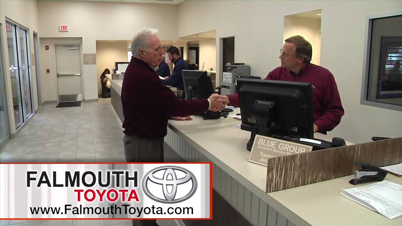 Toyota Service Appointment >> Falmouth Toyota Service Department Schedule Your Service Appointment