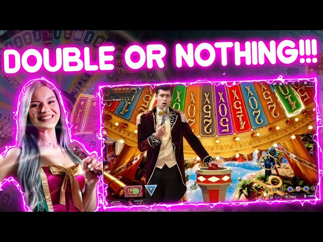 £2,750 Double or Nothing on Crazy Time!!