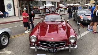 Christophe Choo tour of the Concourse D'Elegance car show on Rodeo Drive in Beverly Hills today.