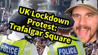 UK Lockdown Protest: Trafalgar Square | Comedy React | SmileyDaveUK