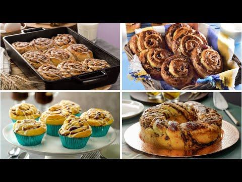 4 Formas de Preparar Roles de Canela | Recetas de pan dulce