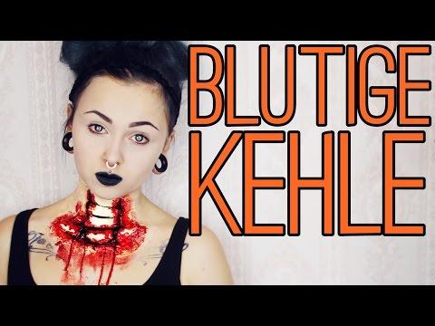 🎃 Halloween IDEE: Blutige Kehle 🎃 +GEWINNSPIEL
