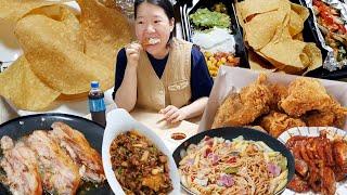 [리얼먹방] 두꺼운 삼겹살, 김치볶음밥, 치킨, 크림파…