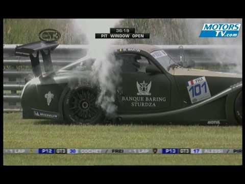 FIA GT3 engine failure at Oschersleben 2009