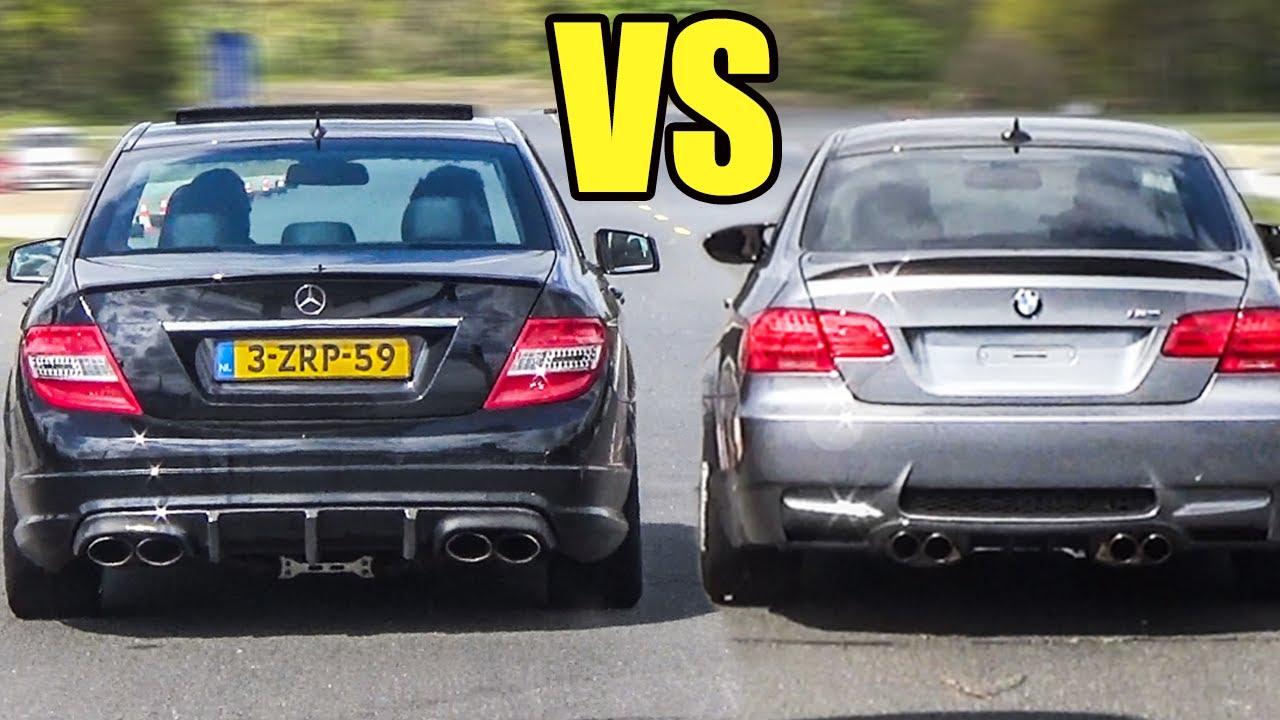 Bmw M3 E92 Vs Mercedes C63 Amg Drag Race