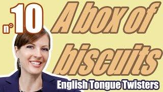 Скороговорки - Ecom Английский - Произношение - Урок 10/100 A box of biscuits.