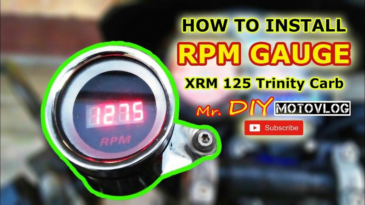How To Install Rpm Gauge Honda Xrm 125 Carb Youtube