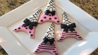 Eiffel Tower Cookies Paris Theme Party Idea(How To)