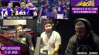 Thielen CALLS OUT Cousins after Bears loss | Who won: Redskins or Vikings? | NFL | #PlugsRadio