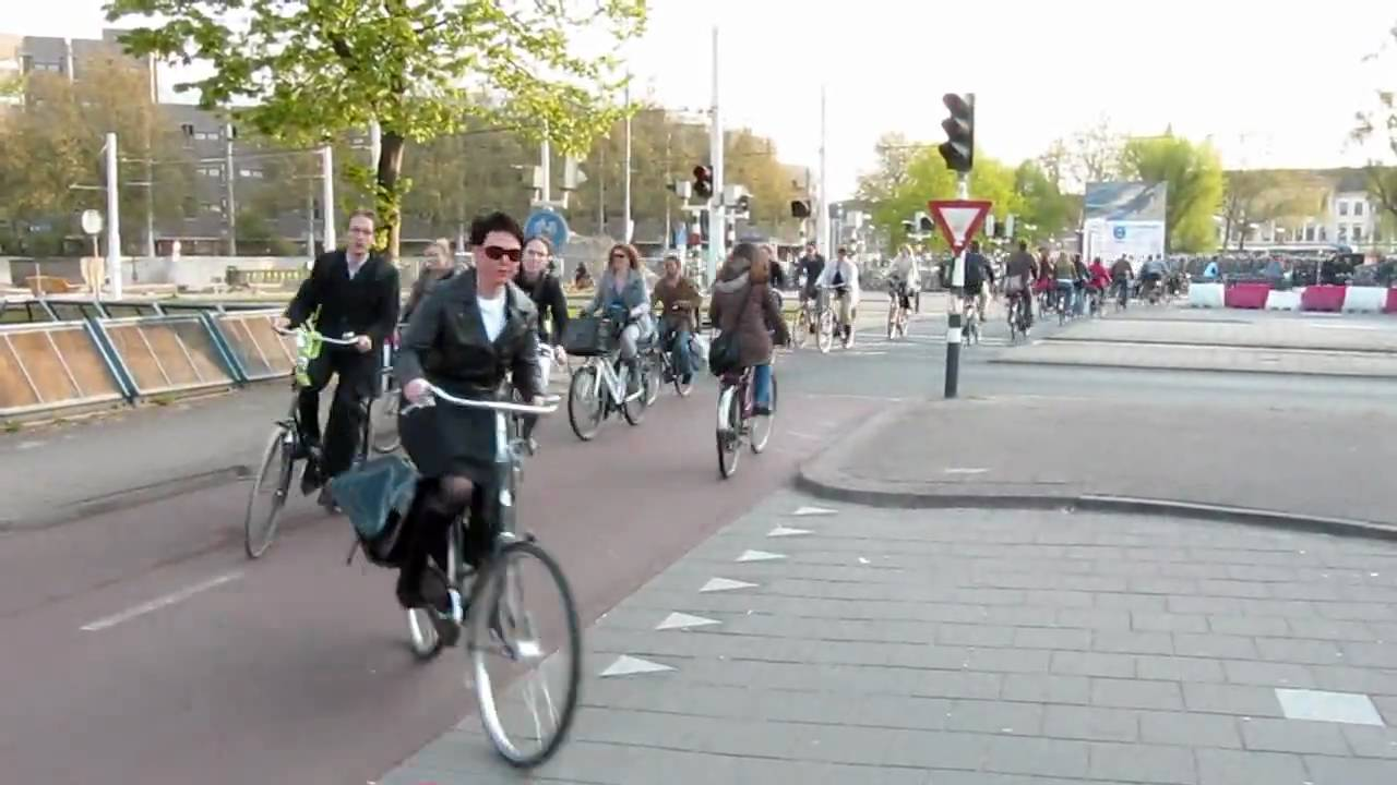 b0754bbfe Bicycle Rush Hour Utrecht (Netherlands) III - YouTube