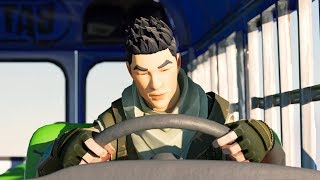 If the Bus Driver fell Asleep on the Battle Bus! (Fortnite Animation)