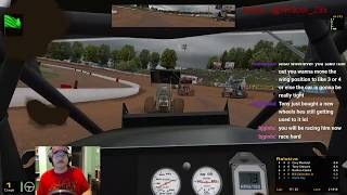 BGGaming Racing with Tony Stewart! iRacing Sprint Cars (last race of the night) Oct 19/17