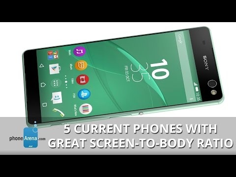 5 current phones with great screen to body ratio